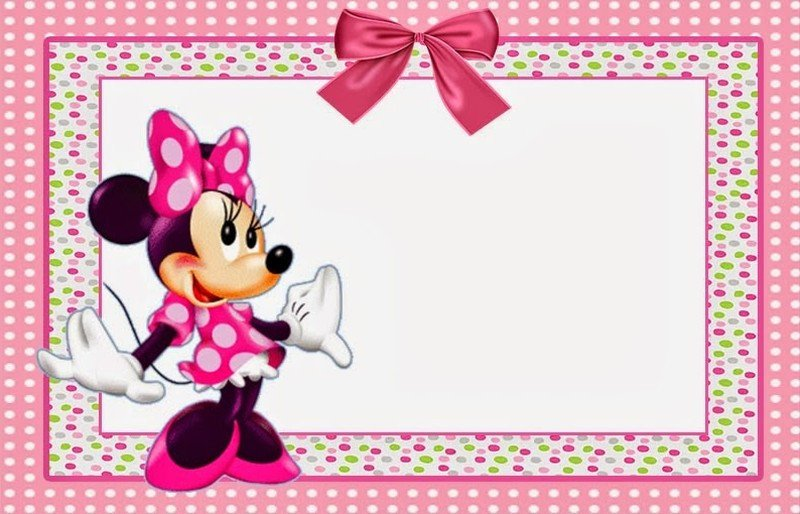 Minnie Mouse Free Printable Invitation Templates