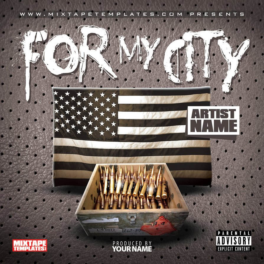 Free Mixtape Cover Templates for My City Mixtape Cover Template by