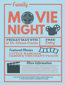 Free Movie Night Flyer Template 4 610 Customizable Design Templates for Movie Night