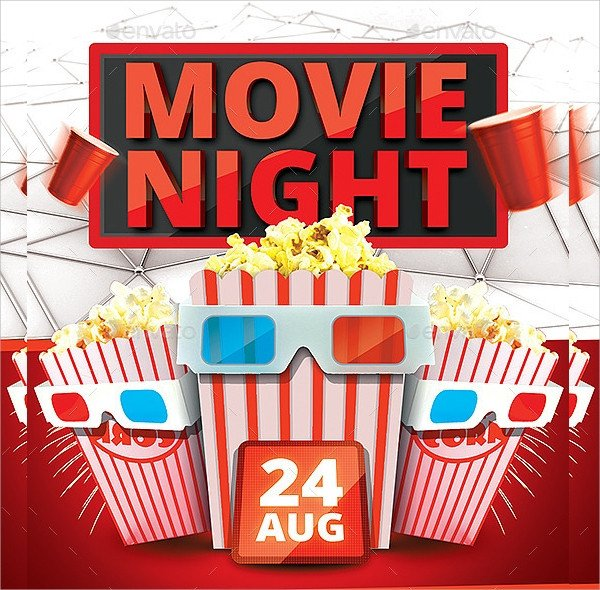 Free Movie Night Flyer Template Movie Night Flyer Template 17 Download In Vector Eps
