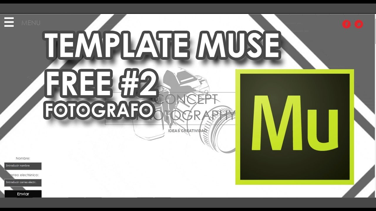 Free Muse Templates Responsive N° 2 Muse Template Responsive Free 2 Fotógrafo