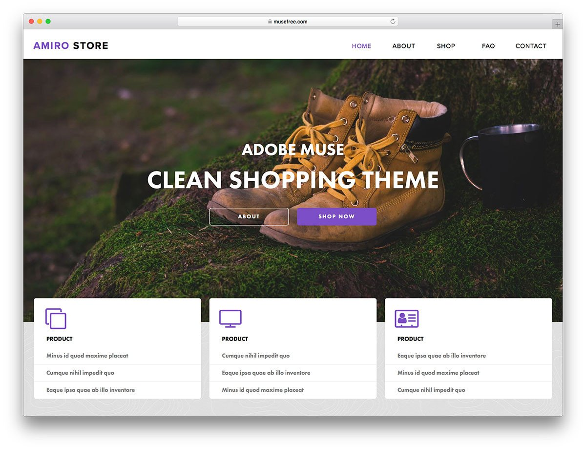 Free Muse Website Templates 16 Free Adobe Muse Templates & themes 2019 Colorlib