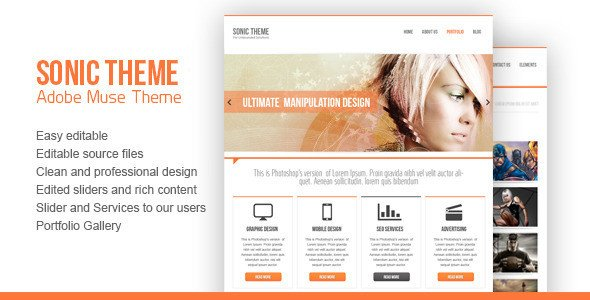 Free Muse Website Templates 45 Best Adobe Muse Templates Free & Premium Download