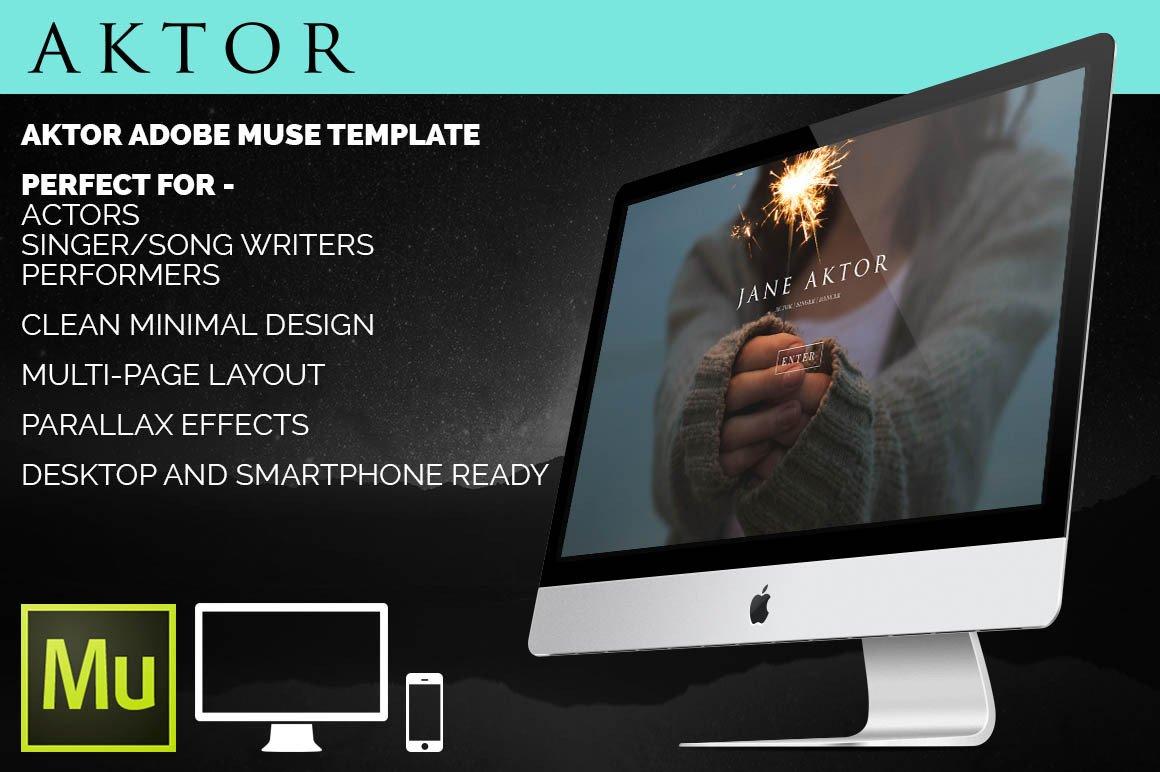 Free Muse Website Templates Aktor Adobe Muse Template Website Templates On