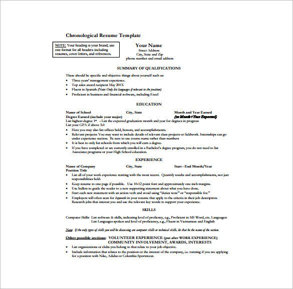 e Page Resume Template 12 Free Word Excel PDF
