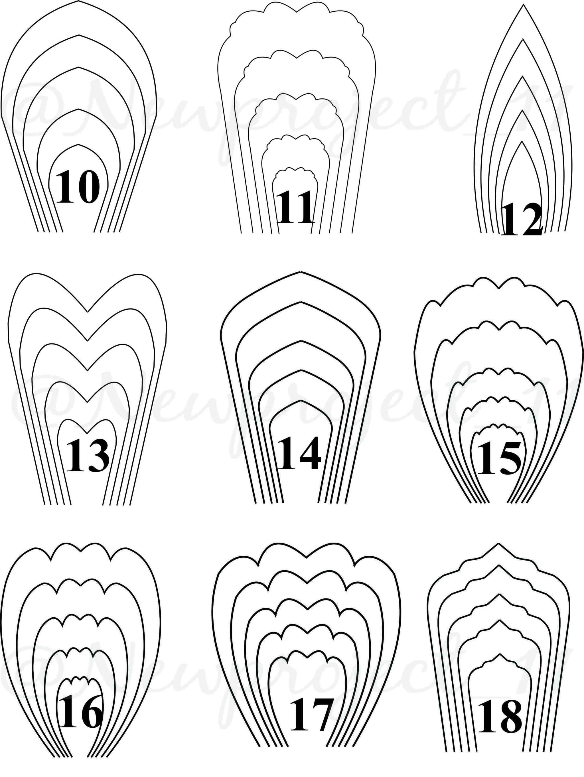 Template large paper flower PAPER FLAWER LOVER
