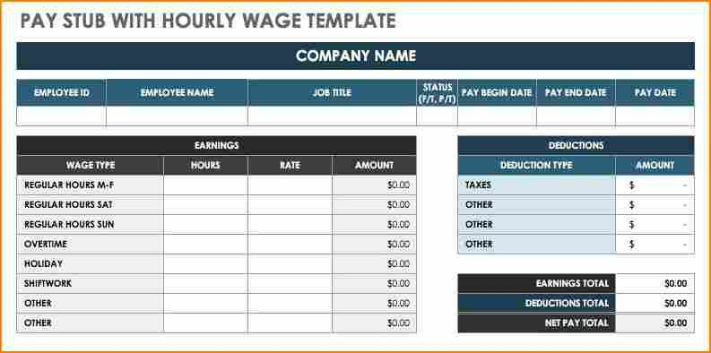Free Pay Stub Template Excel 8 Free Paystub Template Excel