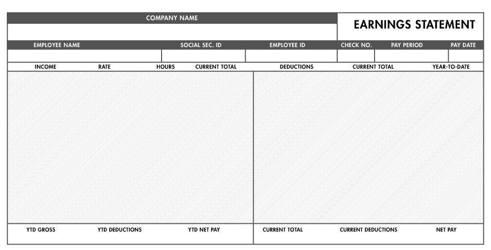 Free Pay Stub Template Excel Free Basic Paystub Template Excel Download – Paystub