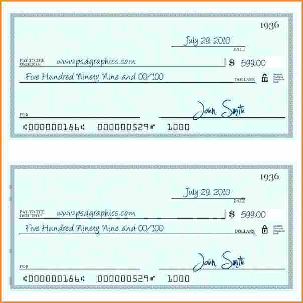 10 payroll check printing template