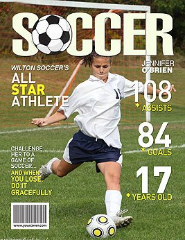 Free Personalized Magazine Covers Templates soccer