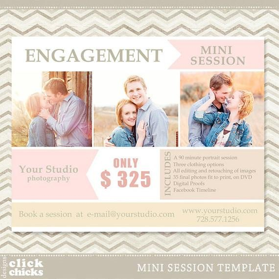 Free Photography Marketing Templates Engagement Mini Session Graphy Marketing Template
