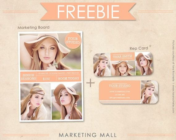 Free Photography Marketing Templates Free Senior Rep Card Template and Marketing Board