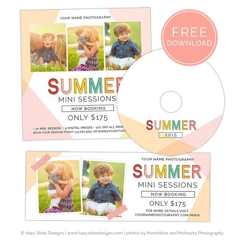 Free Photography Marketing Templates Free Summer Mini Session Template for Shop