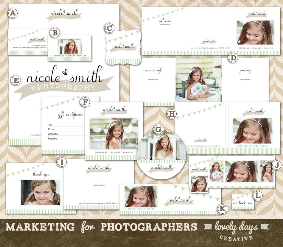 Free Photography Marketing Templates Graphy Marketing Templates Branding Set for Photographers