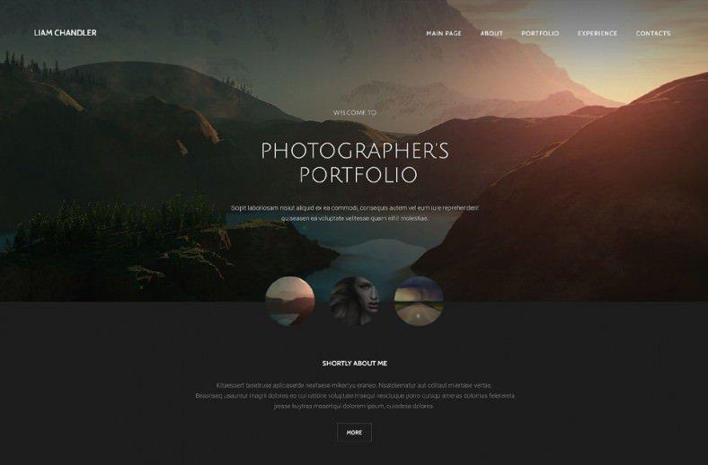 Free Photography Website Templates 36 Portfolio Website themes & Templates