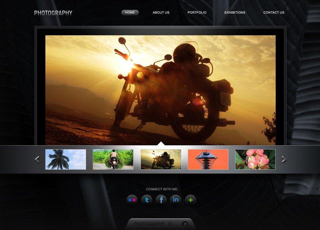 Free Photography Website Templates 50 Beautiful Free and Premium Psd Website Templates and