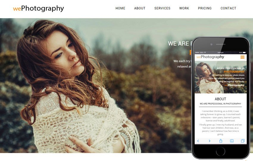 Free Photography Website Templates We Graphy A Grapher Portfolio Flat Bootstrap