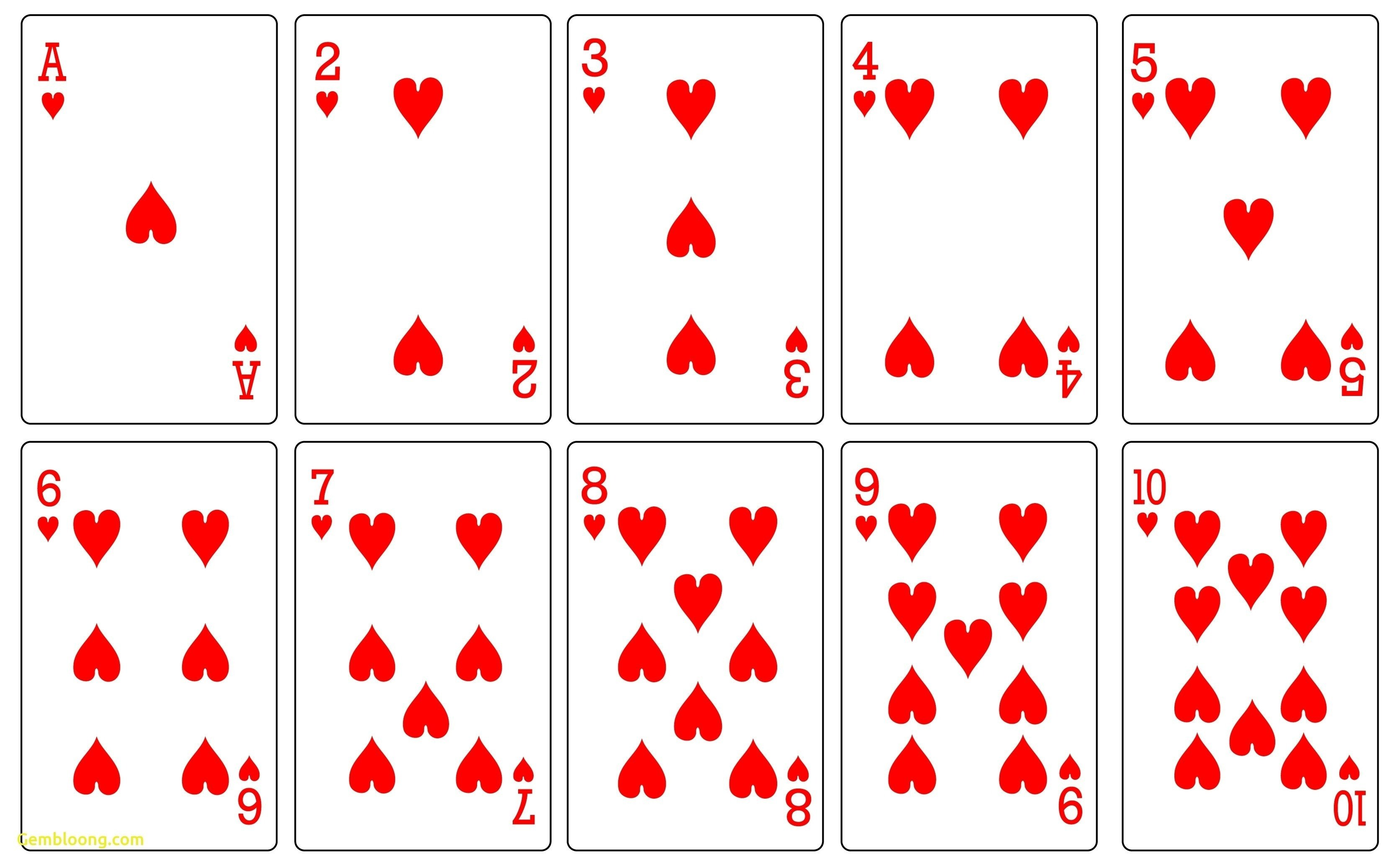 Free Playing Card Template 17 Free Printable Playing Cards