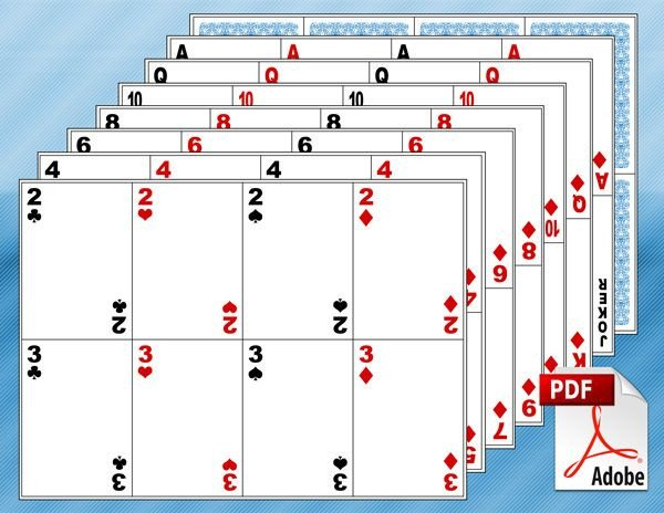 Free Playing Card Template Free Printable Math Centers Classroom Math