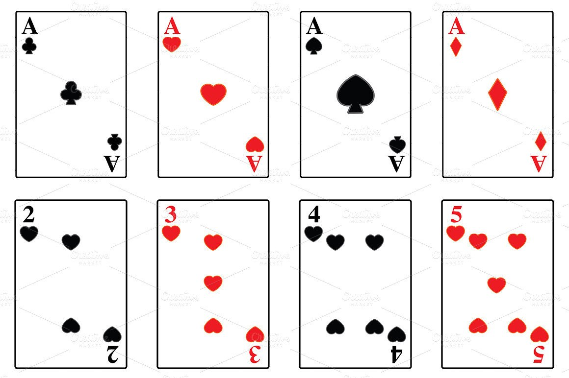 Free Playing Card Template Playing Cards Illustrations On Creative Market