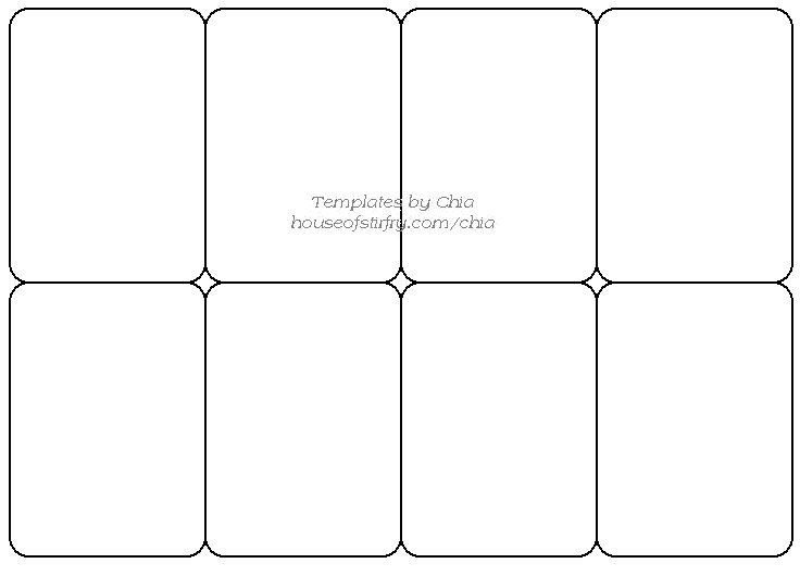 Free Playing Card Template Templete for Playing Cards Artist Trading Cards