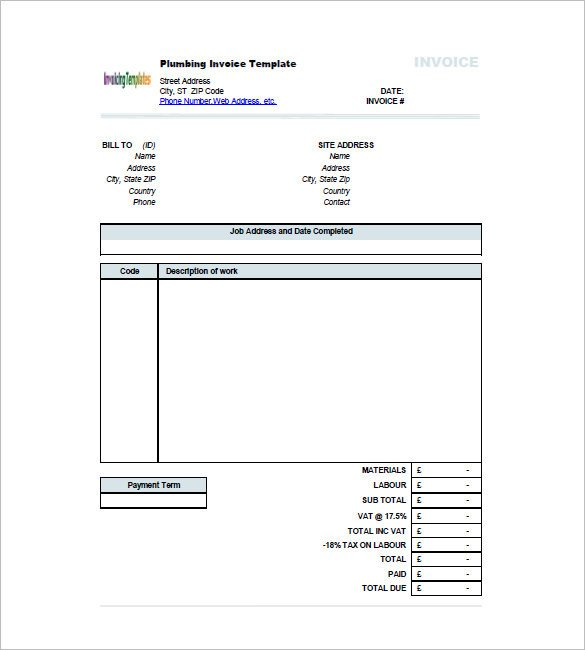 Free Plumbing Invoice Template Plumbing Invoice Template 10 Things You Didn T
