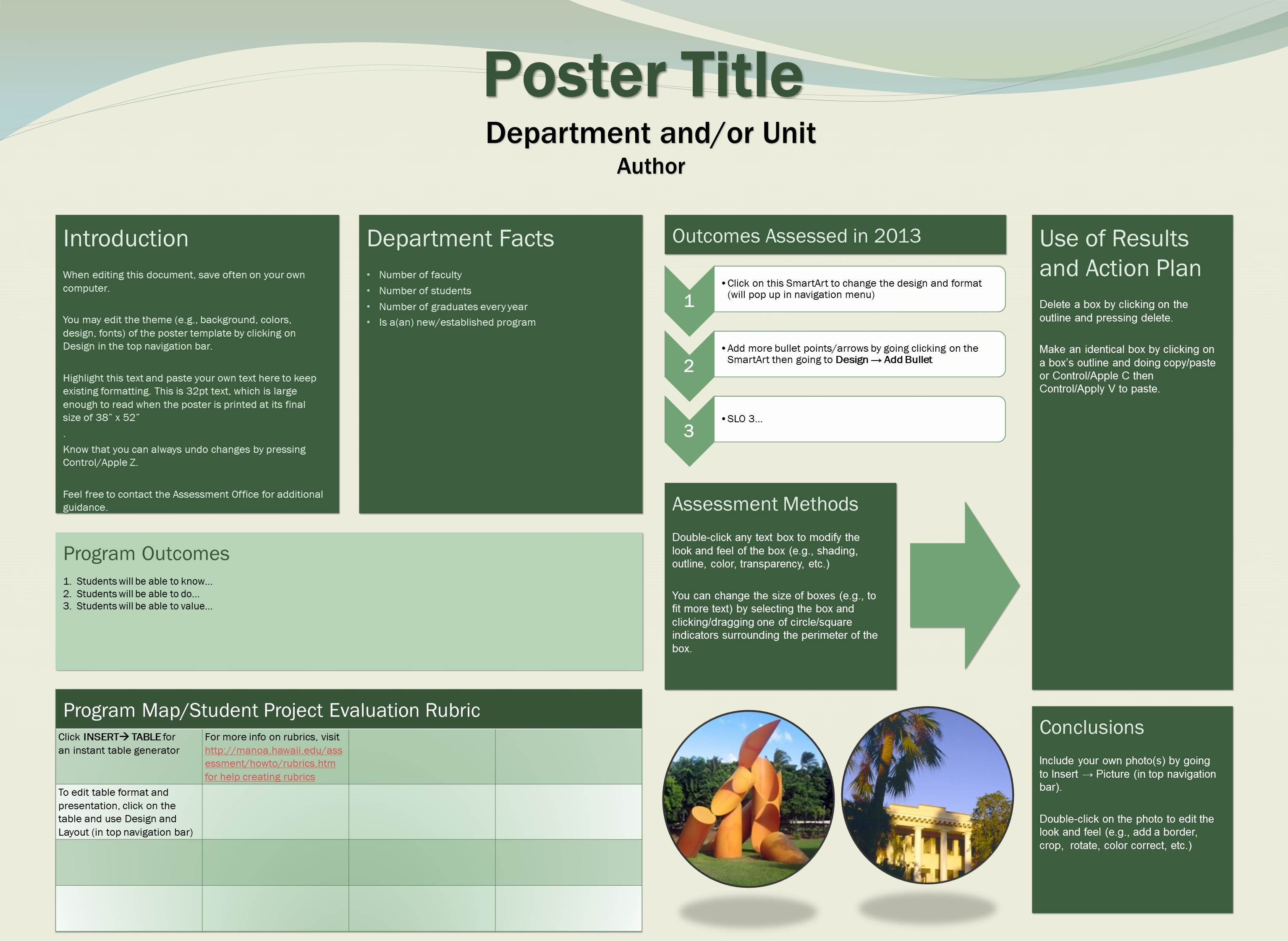 Free Poster Design Templates University Of Hawaii at Manoa assessment Fice