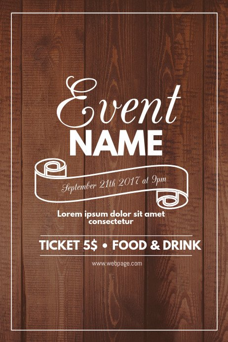 Free Poster Design Templates Wood event Flyer Template