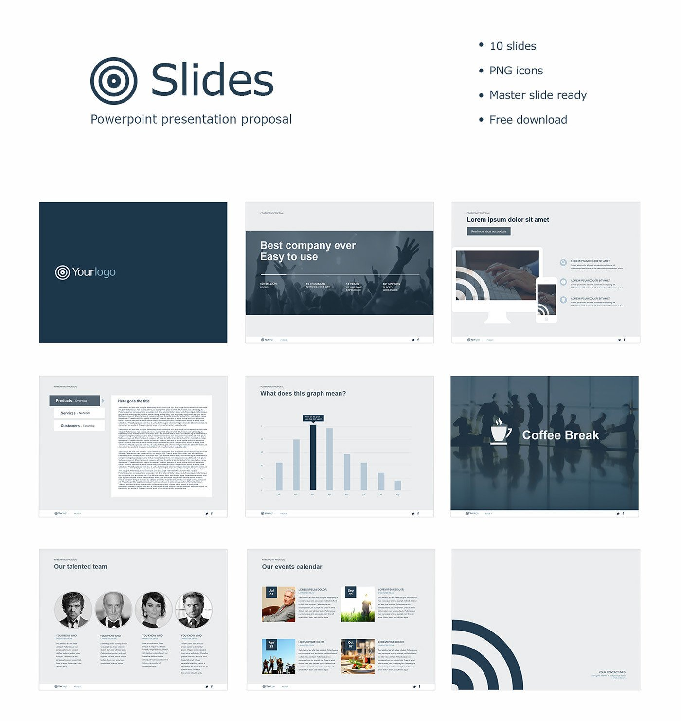 Free Power Point Templates Free Powerpoint Template On Behance