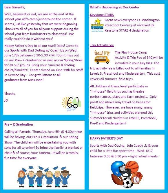 Free Preschool Newsletter Templates Sample Preschool Newsletter 8 Free Download for Word Pdf