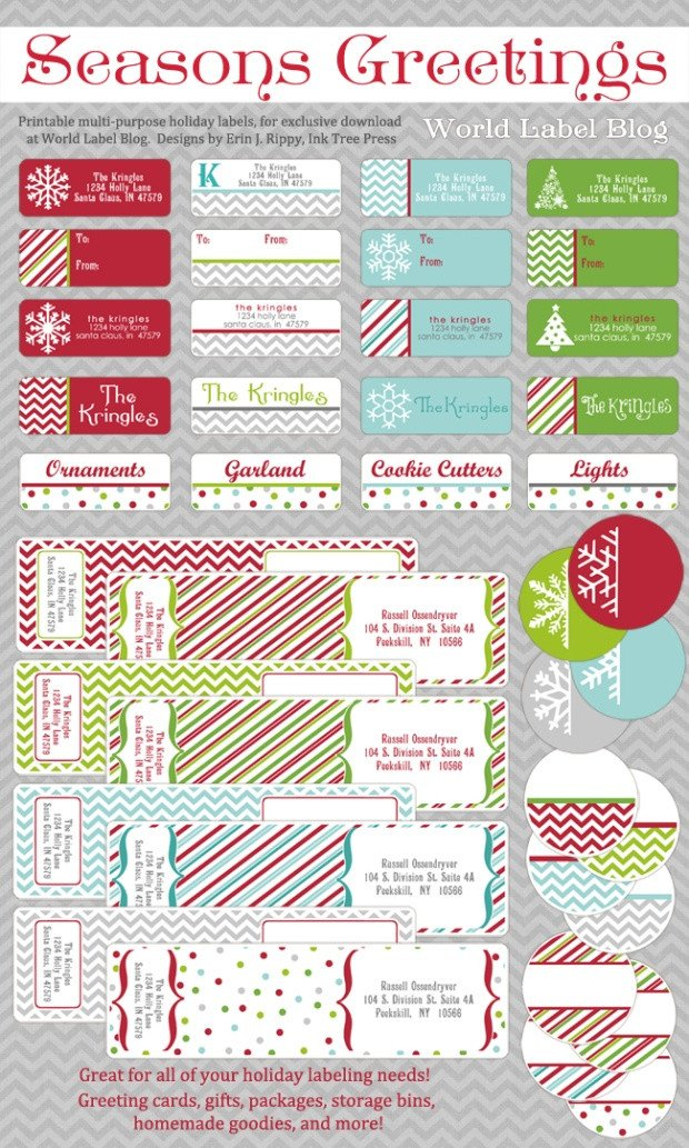 Free Printable Address Labels Template Free Printable Holiday Address Labels