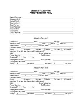 12 Best s of Fake Adoption Forms Fake Adoption