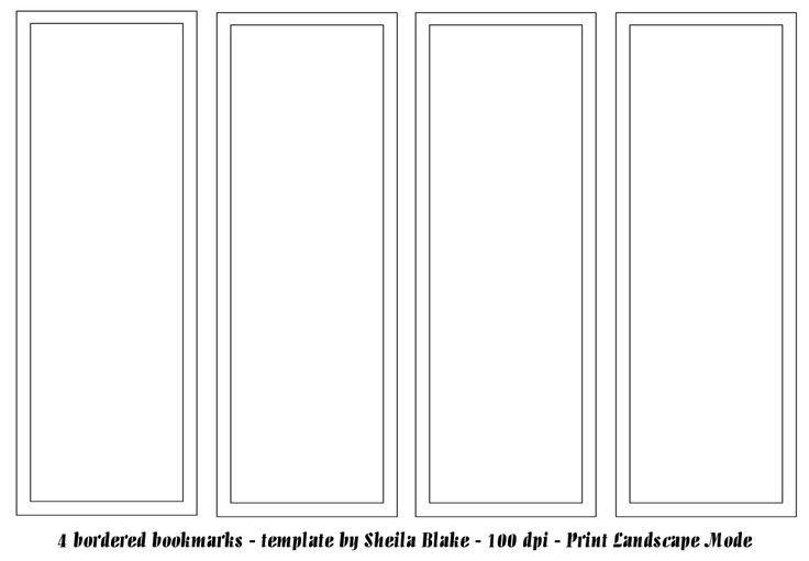 Free Printable Bookmark Templates Best 25 Bookmark Template Ideas On Pinterest