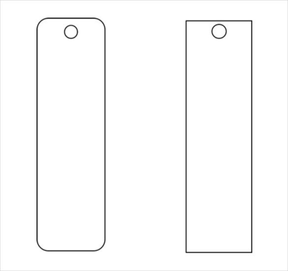 Free Printable Bookmark Templates Blank Funeral Bookmark Template