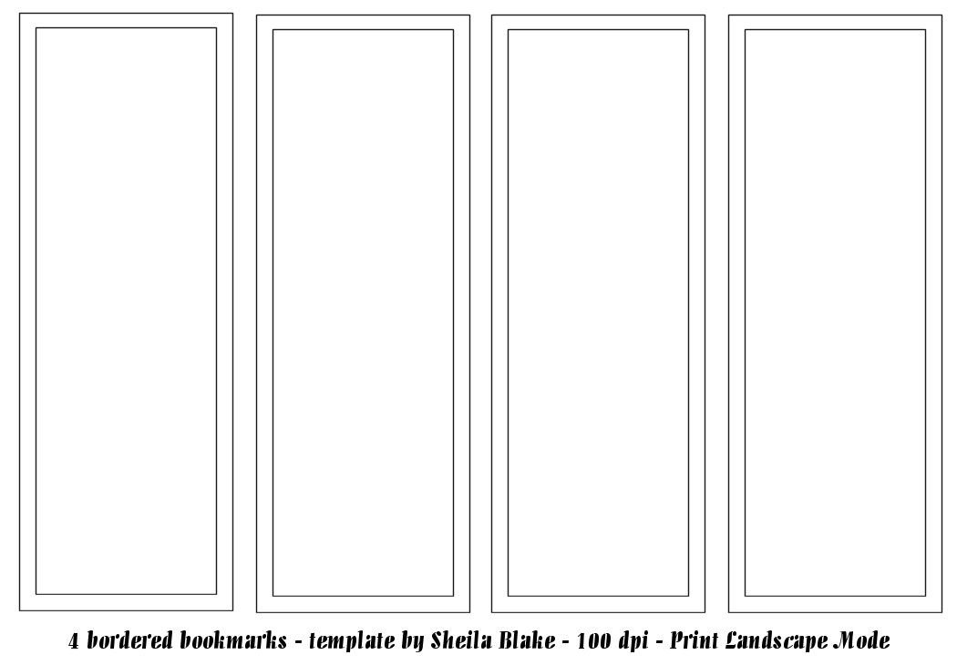 Free Printable Bookmark Templates Bookmark Template Publisher Template