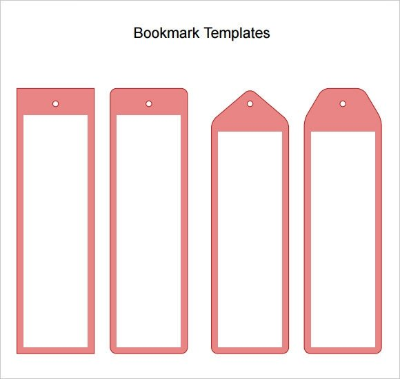 Free Printable Bookmark Templates Sample Blank Bookmark 6 Documents In Pdf Word