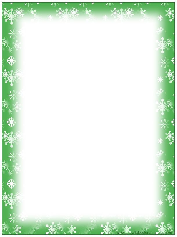 Free Christmas Stationary Templates