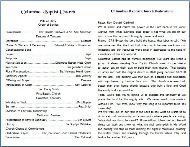 Free Printable Church Bulletin Templates Church Bulletin Templates