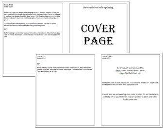 Free Printable Church Program Templates Church Bulletins Bulletin Printing Template