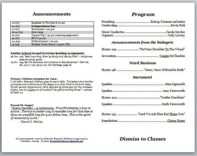 Free Printable Church Program Templates Church Program Template
