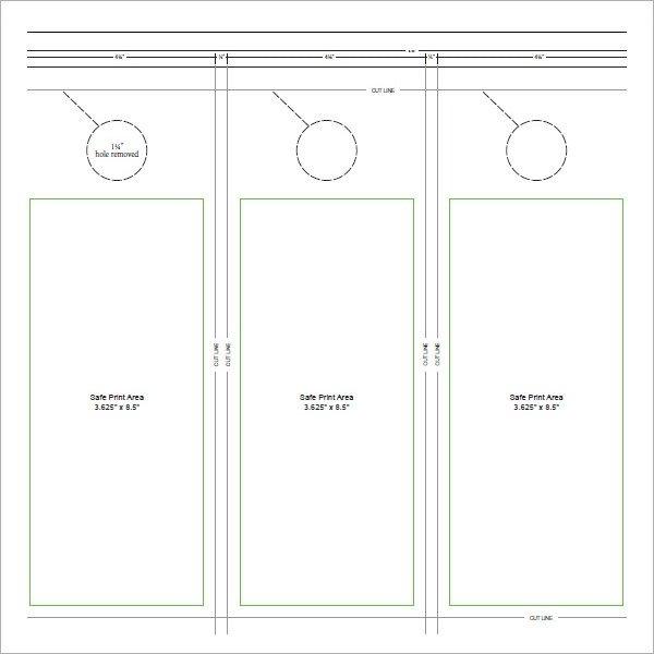 Free Printable Door Hanger Template 15 Door Hangers Psd Vector Eps Pdf