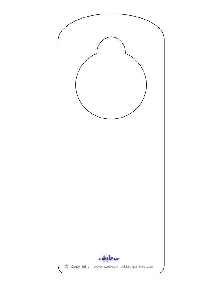 Free Printable Door Hanger Template 25 Best Ideas About Door Hanger Template On Pinterest