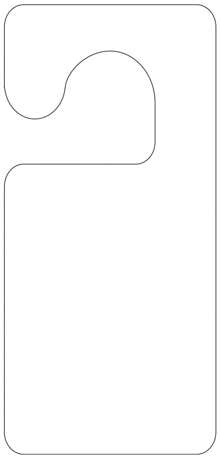 Free Printable Door Hanger Template Best 25 Door Hanger Template Ideas On Pinterest