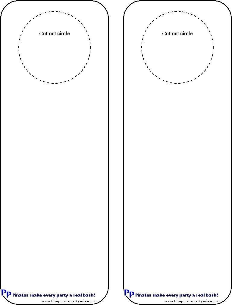 Free Printable Door Hanger Template Cool Idea for Diy Door Hangers Miscellaneous