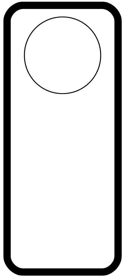 Free Printable Door Hanger Template Door Hanger Templates Pinterest