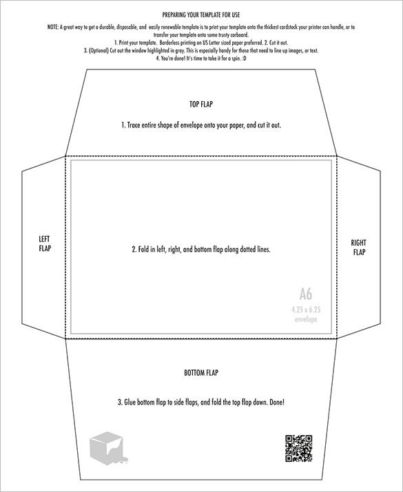 Free Printable Envelope Templates 4×6 Envelope Templates – 9 Free Printable Word Pdf Psd