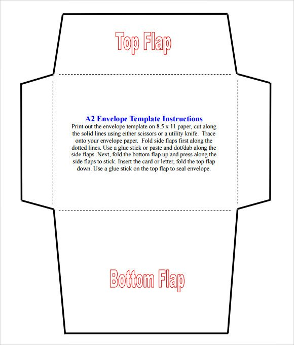 Free Printable Envelope Templates Sample A2 Envelope Template 7 Documents In Word Pdf