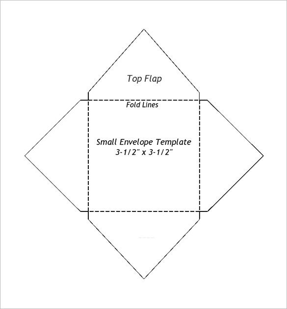 Free Printable Envelope Templates Small Envelope Templates – 9 Free Printable Word Pdf