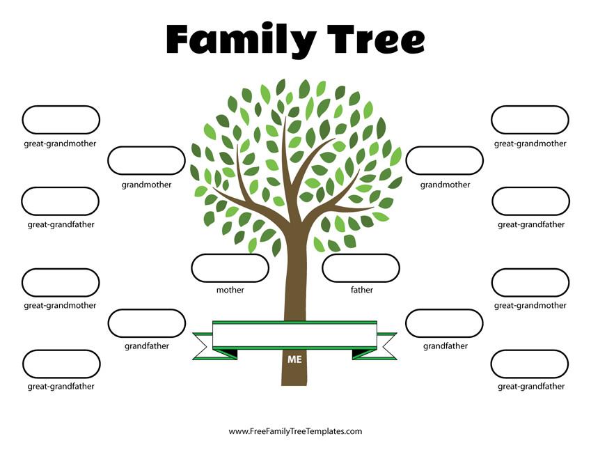 Free Printable Family Tree Template 4 Generation Family Tree Template – Free Family Tree Templates