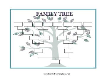 Free Printable Family Tree Template Blank Family Tree Template